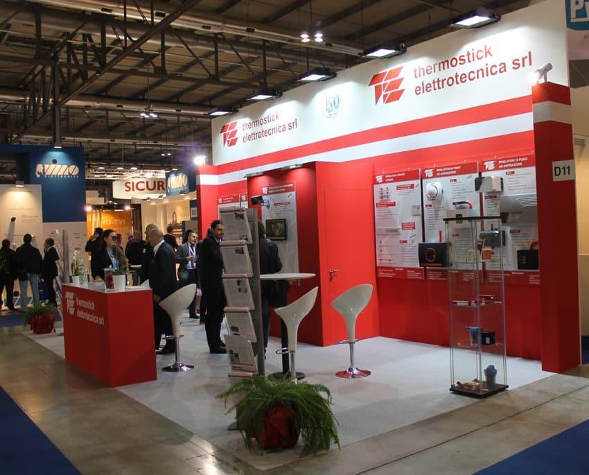Stand fieristici Fiera Milano SICUREZZA Stand thermostick elettrotecnica