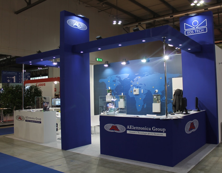 Stand fieristici Fiera Milano SICUREZZA Stand AElettronica Group