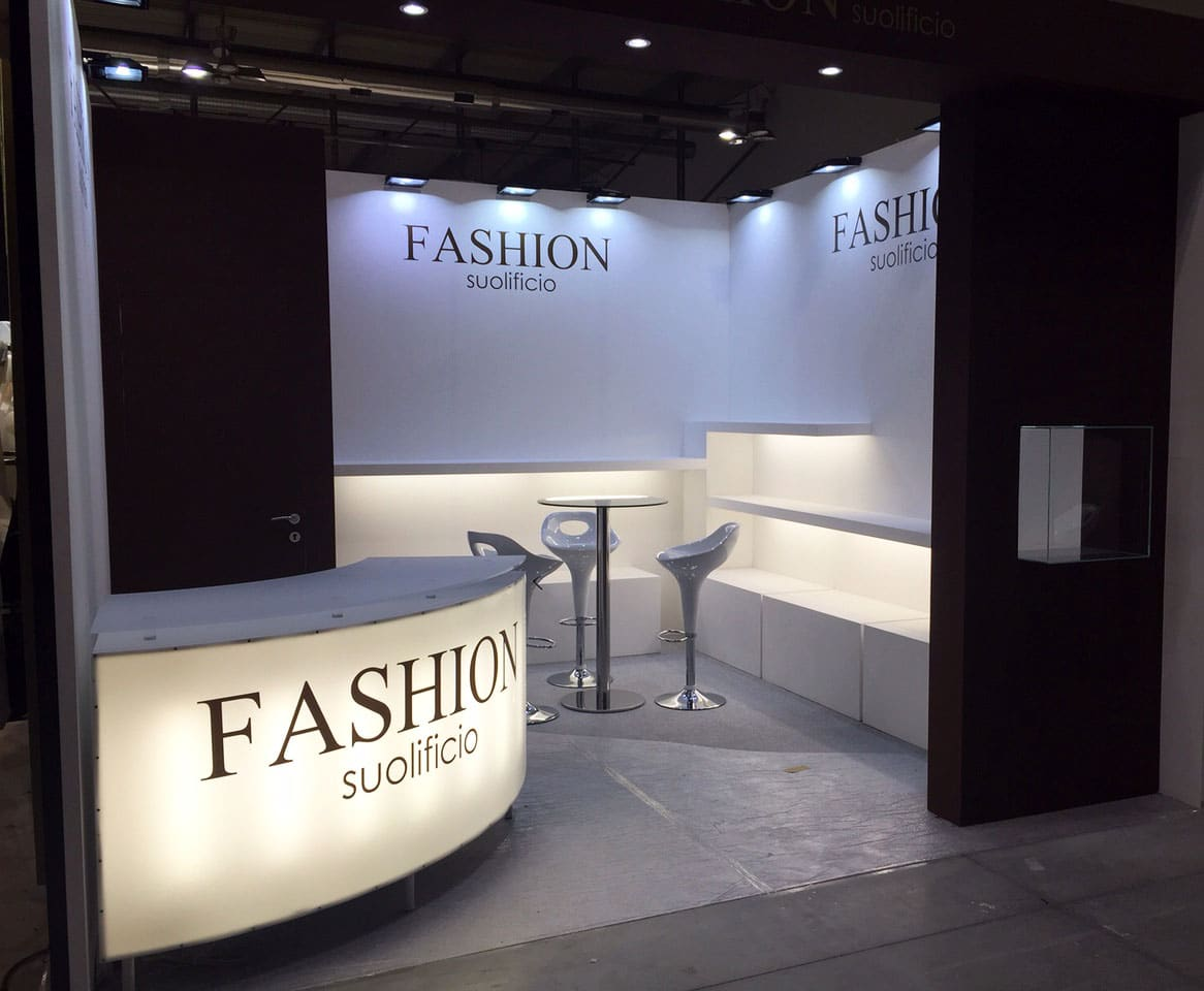 Allestimento fieramilano LINEAPELLE Stand Suolificio Fashion