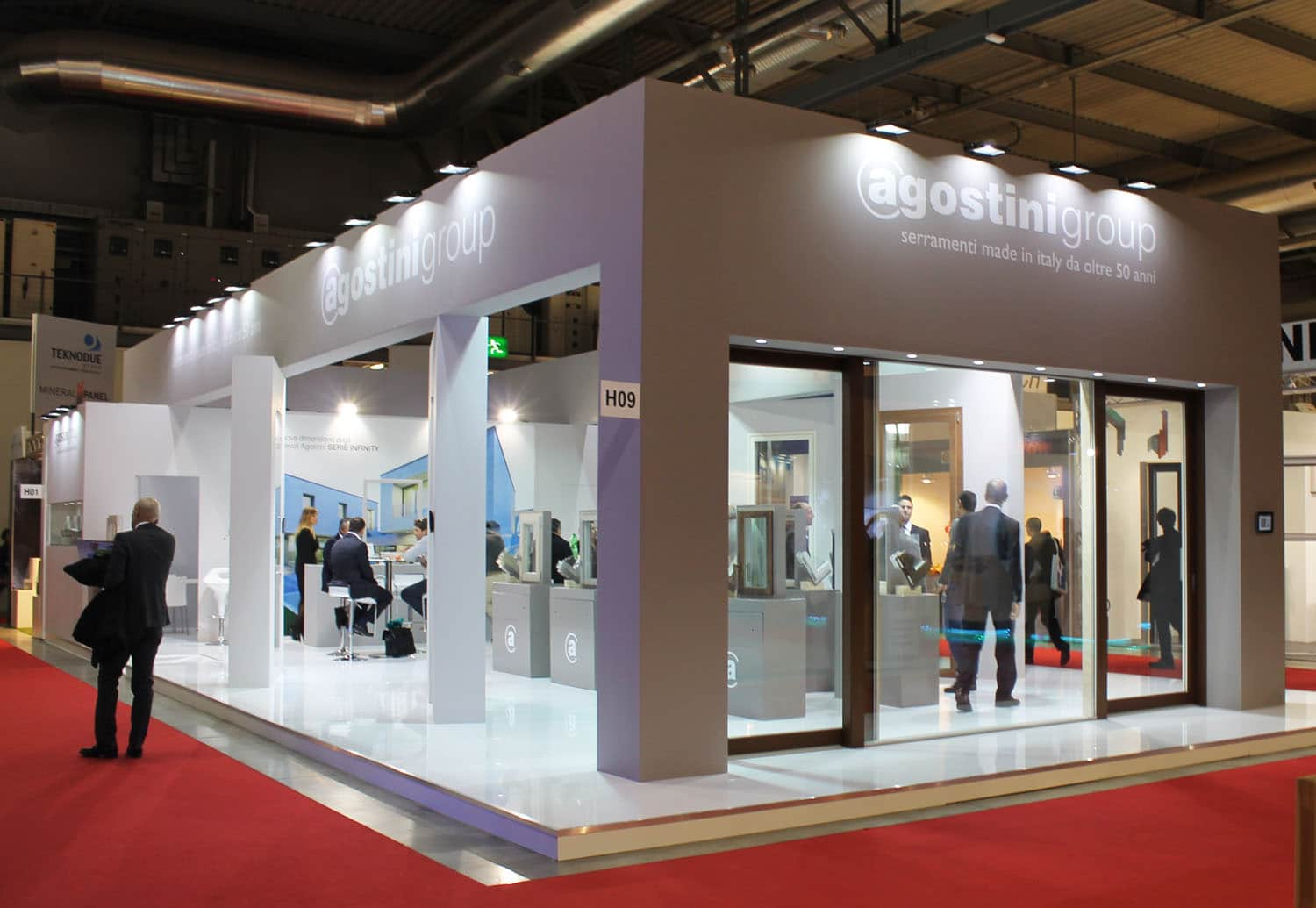 Allestimenti fieristici Milano MADE EXPO Stand Agostini Group