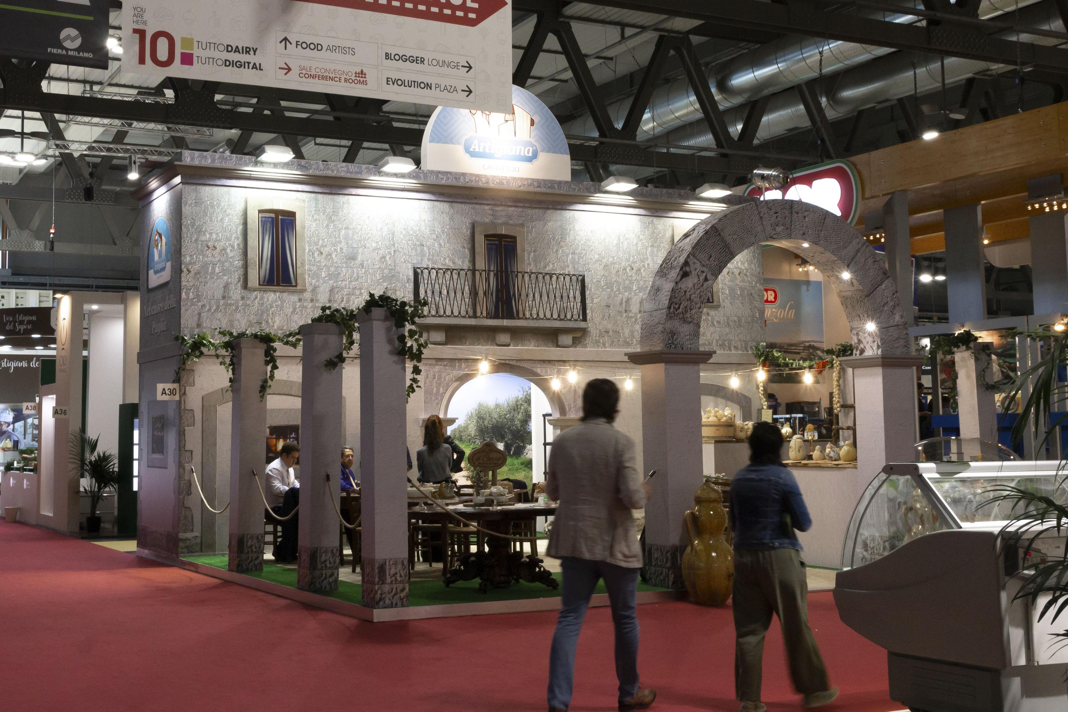 Stand fieristici Milano Fiera TUTTOFOOD 2019 Stand Caseificio Artigiana